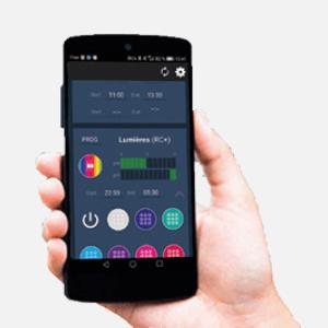 Coffret électrique - Meteor application smartphone