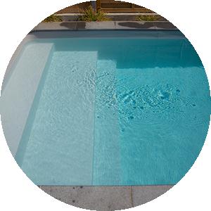 revêtement de piscine liner gris clair