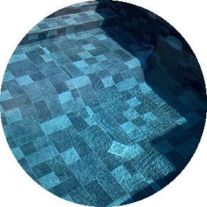 revêtement de piscine : PVC armé pierre de bali