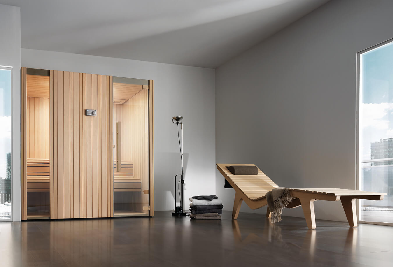 Sauna finlandais Aquilus Spas gamme Aukiline