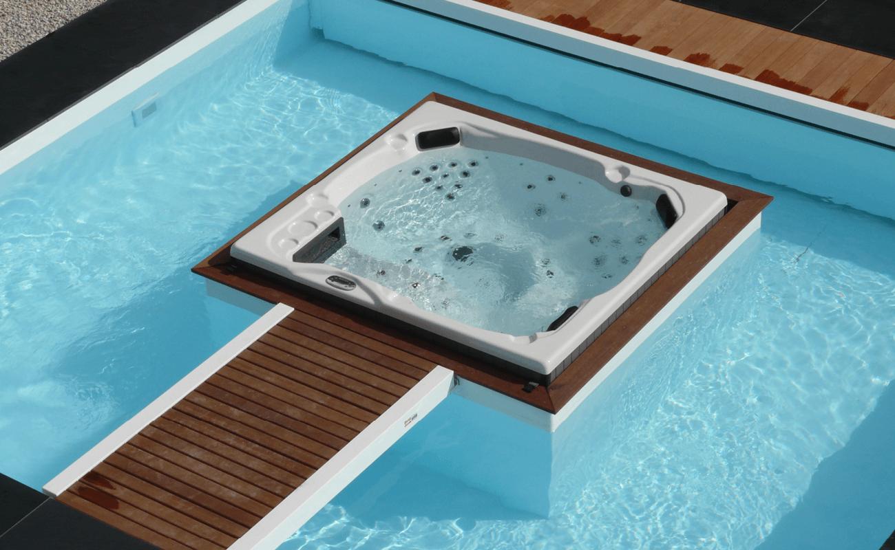 Piscine et spa intégré Aquilus